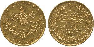 50 Kurush Turquie (1923 - ) Or Mohammed V (roi du Maroc) (1909 - 1961)