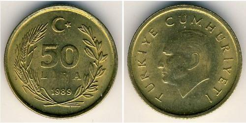 50 Lira Türkei (1923 - ) Messing