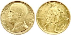 50 Lira Kingdom of Italy (1861-1946) Oro Vittorio Emanuele III (1869 - 1947)