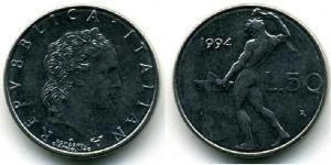 50 Lira Italy Steel