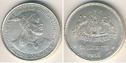 50 Lisente Lesotho Silver