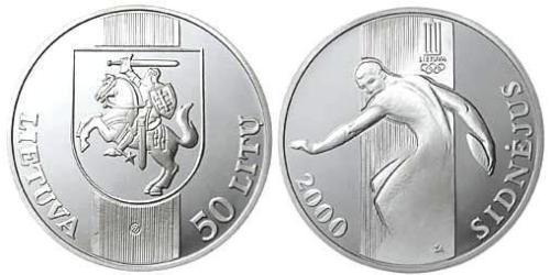 50 Litas Litauen (1991 - ) Silber