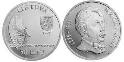 50 Litas Lithuania (1991 - ) Silver
