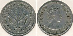 50 Mill British Cyprus (1914–1960) Copper/Nickel