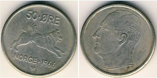 50 Ore Norwegen Kupfer/Nickel