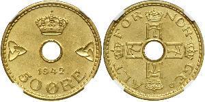 50 Ore Norway Brass/Nickel