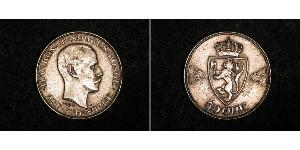 50 Ore Kingdom of Norway (1905 - ) Silver Haakon VII of Norway (1872 - 1957)