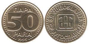 50 Para República Federativa Socialista de Yugoslavia (1943 -1992) Latón