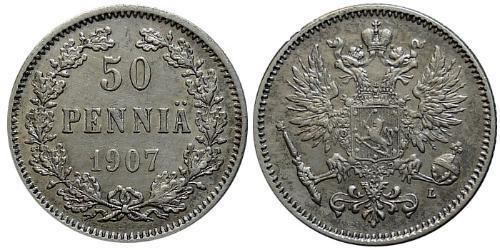 50 Penny Granducato di Finlandia (1809 - 1917) / Impero russo (1720-1917) Argento