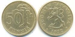 50 Penny Finland (1917 - ) Bronze/Aluminium