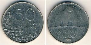 50 Penny Finland (1917 - ) Copper/Nickel