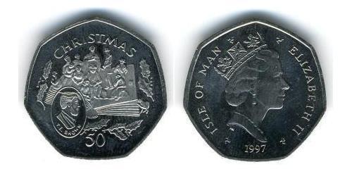 50 Penny Isle of Man Copper/Nickel