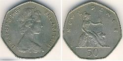 50 Penny Vereinigtes Königreich Kupfer/Nickel