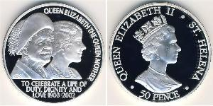 50 Penny  Silver Elizabeth II (1926-)