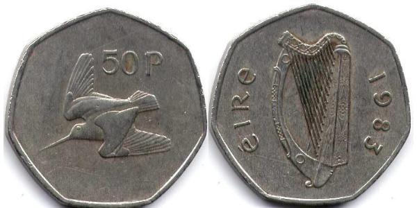50 Penny Irlande (1922 - )
