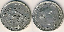 50 Peseta Francoist Spain (1936 - 1975) Kupfer/Nickel Francisco Franco(1892 – 1975)