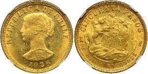 50 Peso 智利 金