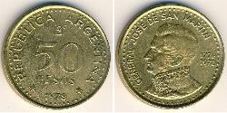 50 Peso República Argentina (1861 - ) Aluminio/Bronce