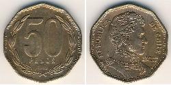 50 Peso Chile Bronze