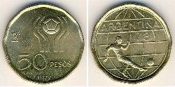 50 Peso Argentine Republic (1861 - ) Bronze/Aluminium