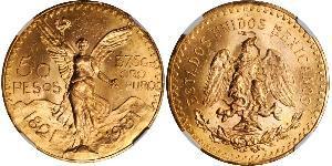 50 Peso Mexiko (1867 - ) Gold