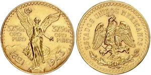 50 Peso Mexiko (1867 - ) Gold