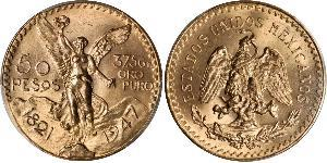 50 Peso México (1867 - ) Oro