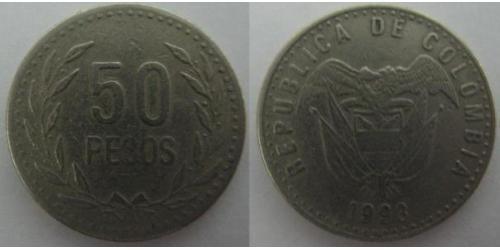 50 Peso Republique de Colombie (1886 - )