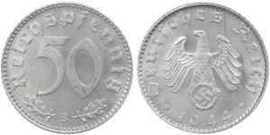 50 Pfennig 德国 铝