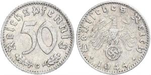 50 Pfennig Germania Alluminio