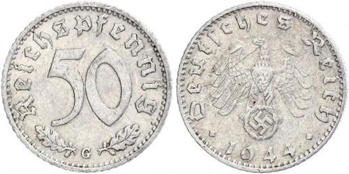 50 Pfennig Alemania Aluminio