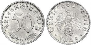 50 Pfennig Deutschland Aluminium