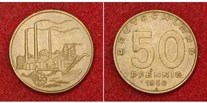 50 Pfennig German Democratic Republic (1949-1990) Brass