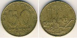 50 Pfennig German Democratic Republic (1949-1990) Bronze/Aluminium/Brass