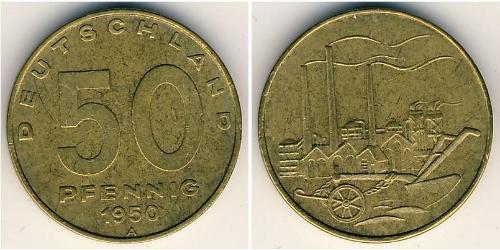 50 Pfennig German Democratic Republic (1949-1990) Bronze/Brass/Aluminium