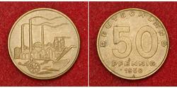 50 Pfennig Deutsche Demokratische Republik (1949-1990) Messing