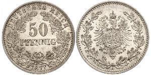 50 Pfennig 德意志帝國 (1871 - 1918)