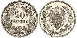 50 Pfennig Deutsches Kaiserreich (1871-1918)