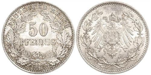 50 Pfennig Empire allemand (1871-1918)