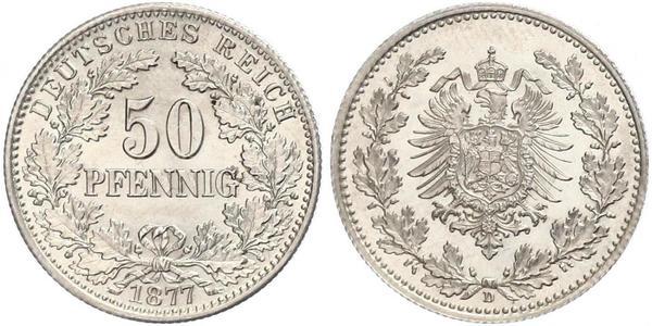 50 Pfennig Empire allemand (1871-1918)