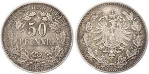50 Pfennig Impero tedesco (1871-1918)