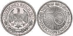 50 Pfennig / 50 Reichpfennig Weimar Republic (1918-1933) Copper/Nickel