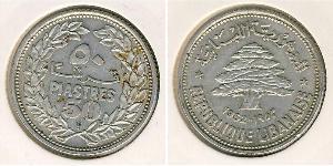 50 Piastre Libano Argento