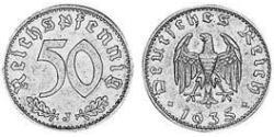 50 Reichpfennig Nazi Germany (1933-1945) Aluminium