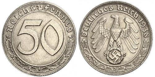 50 Reichpfennig Germania nazista (1933-1945) Nichel