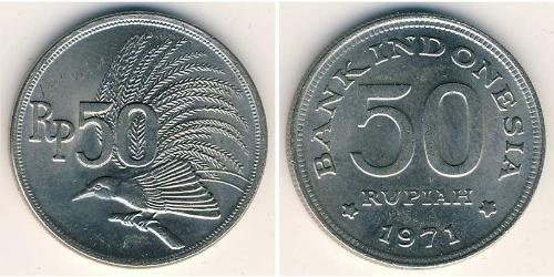 50 Rupiah Indonesia Copper/Nickel