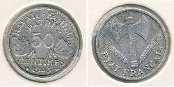 50 Sent Vichy France (1940-1944) Aluminium