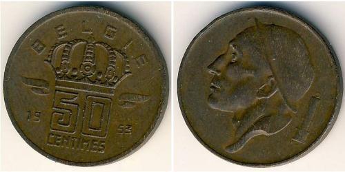 50 Sent Belgique Bronze