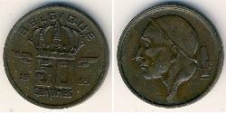 50 Sent Belgium Bronze