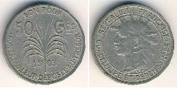 50 Sent Guadeloupe Copper/Nickel